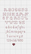 Backstitch Alphabet Pattern