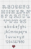 Backstitch Alphabet Blue