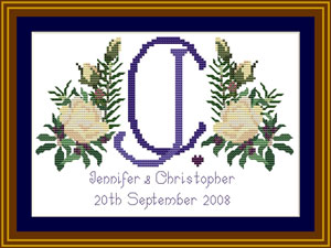 Cross stitch wedding sampler