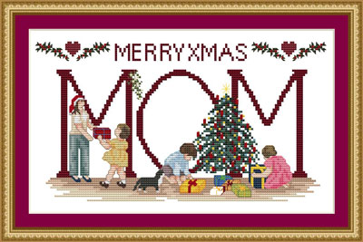 Personalised - Christmas Cross-stitch