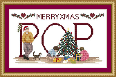 Personalized Christmas Cross-stitch