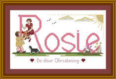 Girls Christening Cross stitch