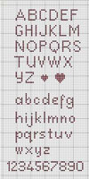 Cross stitch Alphabet in Pink