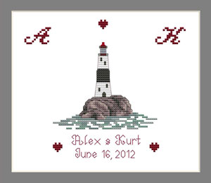 Lighthouse Ring Cushion